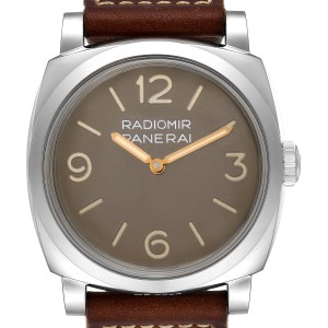 Panerai Radiomir 1940 47mm Brown Dial Steel Mens Watch PAM00662