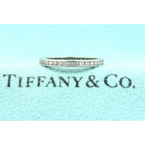 Tiffany & Co. Platinum Diamond Eternity Ring Band Channel Set Vintage sz 5.25