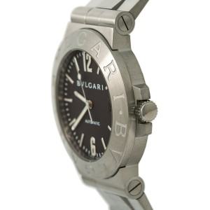 Bvlgari Diagono LCV 38 S Mens Automatic Watch black Dial Stainless Steel 38mm