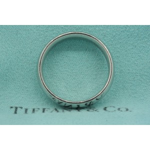 Tiffany & Co. Platinum 6mm Wedding Band Ring sz 11 Vintage