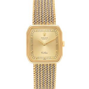 Rolex Cellini 18k Yellow Gold Champagne Dial Ladies Watch 4347