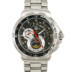 Tag Heuer Formula 1 Indy CAH101A Mens Quartz Watch Chronograph SS Grey Dial 44mm