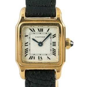 Cartier Santos Vintage 7809 Women Watch Hand Wind 18K White Spider Dial 20mm