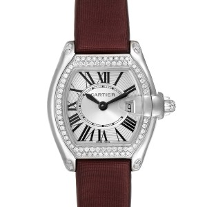 Cartier Roadster 18K White Gold Diamond Ladies Watch WE500260