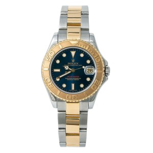 Rolex Yacht-Master 168623 P Serial Women Auto 18K Two Tone Watch W/Papers 35mm