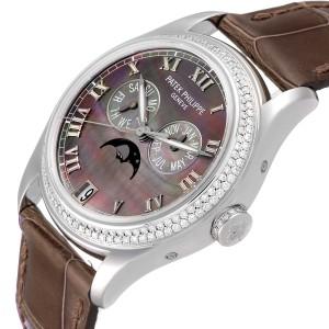 Patek Philippe Annual Calendar White Gold MOP Diamond Watch 4936