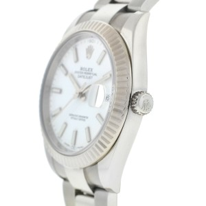 Rolex 126334 Datejust 41 White Dial Stainless Steel Automatic Watch