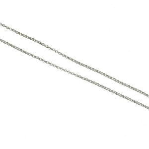 14k White Gold Diamond Heart Drop Pendant Necklace