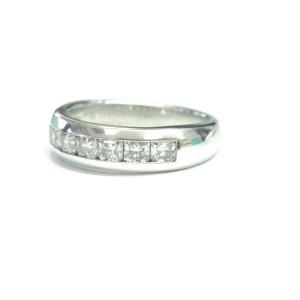 Tiffany & Co Platinum Lucida Diamond Half Circle Band Ring .75Ct 4.2mm