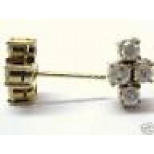 Fine Round Cut Diamond Earrings Yellow Gold 14KT 1.45CT