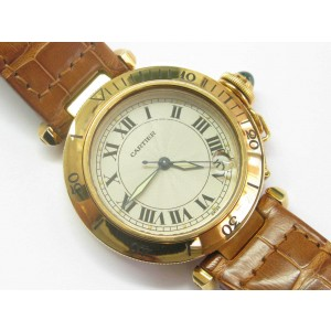 Cartier 1035 Pasha 18k Yellow Gold Swiss Automatic Mid-Size 35mm