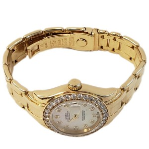 Rolex Masterpiece 69298 Women's White MOP Diamond Gold Diamond 29mm 1YearWty