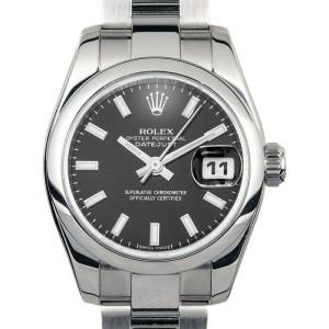 Rolex Datejust 26mm 179160 Women's Black Index Steel 26mm 1 Year Warranty