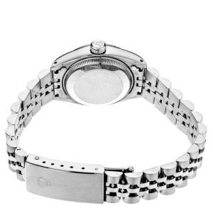 Rolex Datejust 6916 Women's White MOP Diamond White Gold 26mm 1 Year Warranty