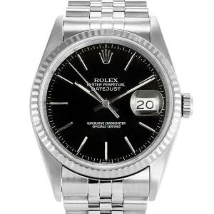 Rolex Datejust 36mm 16234 Unisex Black Index White Gold 36mm 1 Year Warranty