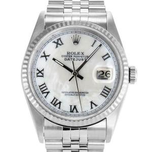 Rolex Datejust 36mm 16234 Unisex White MOP White Gold 36mm 1 Year Warranty