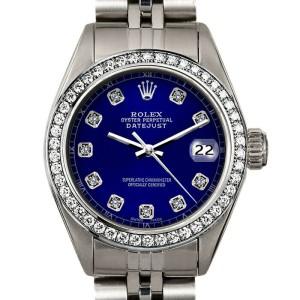 Rolex Datejust 26mm 6916 Women's Blue Diamond White Gold 26mm 1 Year Warranty