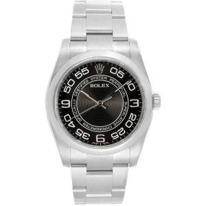 Rolex 116000 Oyster Perpetual 36 Men's Stainless Steel Black 1 Year Warranty