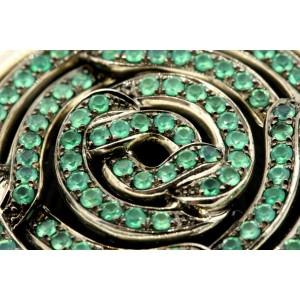 "David Yurman Labyrinth Disc Pendant Enhancer Large 2.5"" Green Onyx $1800"