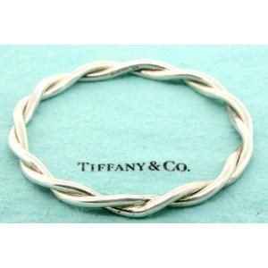 "Tiffany & Co. Bracelet Twist Bangle Large Heavy 7.75"" Vintage Rare Slip On"