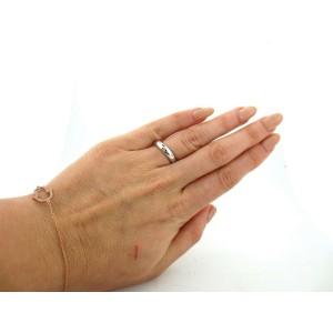 Tiffany & Co Etoile Platinum Diamond Eternity Wedding Ring Band Size 4.5 .22Ct