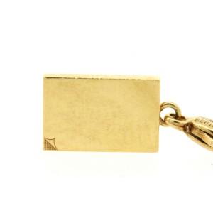 Cartier 18k Gold Book Corner Folded Charm Lobster Claw for Bracelet Rare