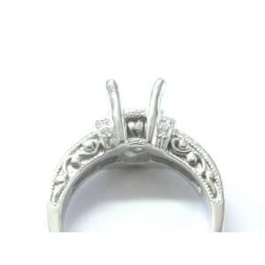 Tacori Platinum Diamond Semi Mount Ring .45Ct Size 5