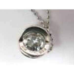 Hearts On Fire Round Diamond Solitaire 4-Prong Pendant Necklace .55Ct G-VS2