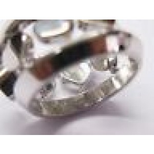 Chopard 18Kt Happy Diamonds Heart WIDE Ring White Gold Size 6.5