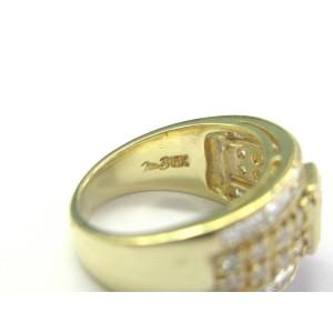 Emerald Round & Square Diamond Ring Bezel Set 18Kt Yellow Gold 2.00Ct