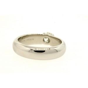 Tiffany & Co. Etoile Platinum .54 Round Diamond Engagement Ring sz 7 I VS2