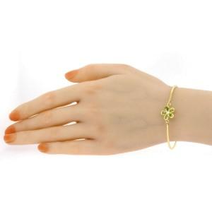 Tiffany & Co. Bracelet Flower 18k Gold Peridot Diamond Bangle Daisy