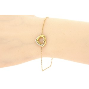 """Cartier Trinity Heart Bracelet 18k Rose White Yellow Gold Tri Color 6.5 or 7.5"""""""