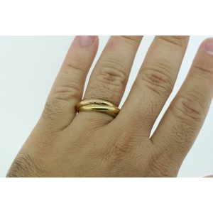 Cartier Mens Trinity Band Ring 18k Yellow White Rose Gold sz 63 US 10.25