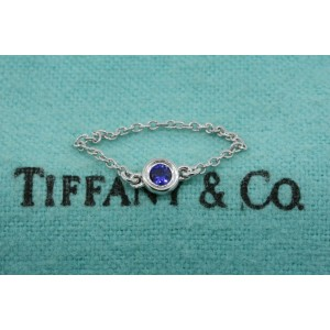 Tiffany & Co. Sapphire Ring Color by the Yard Sterling Silver sz 5