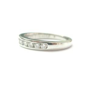 Jabel Round Diamond Channel Set Band Platinum 950 8-Stone F-VS1 .50Ct