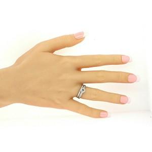 Tiffany & Co. Platinum Diamond Engagement Ring Wedding Band Set .67 Round sz 6.5
