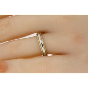 Tiffany & Co. Platinum 18k Gold Wedding Band Ring 4mm size 5.5 Vintage