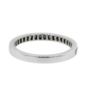 Tiffany & Co. Legacy Diamond Band Ring size 6 Platinum Half Circle .22ct