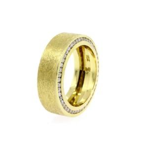 Sal Praschnik Mens Diamond Wedding Band Ring 18k Yellow Gold 1.38ct size 10