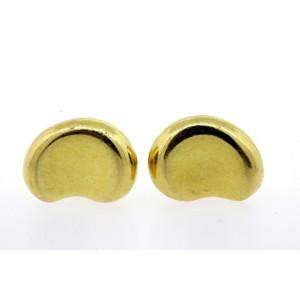 Tiffany & Co. Elsa Peretti Bean Stud Earrings 18k Yellow Gold