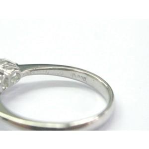 Platinum Round & Pear Shape Diamond Three-Stone Engagement Ring 1.16Ct