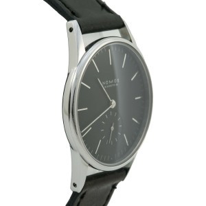 NOMOS Glashutte Orion 326 stainless Exhibition Case Back Mens Watch 34MM