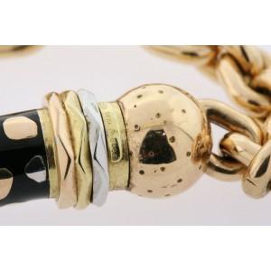 """Nouvelle Bague Choker Necklace Pendant Rose Gold 18k Diamond Enamel Rare 15.5"""""""