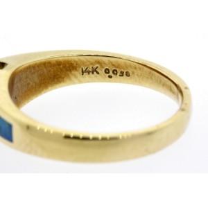 Bagley & Hotchkiss Ring Diamond Opal Inlay 14k yellow Gold size 6.5
