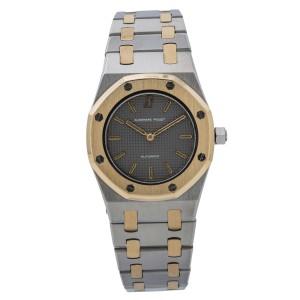 Audemars Piguet Royal Oak Automatic Lady's Watch 18K Two Tone Grey Dial 30mm