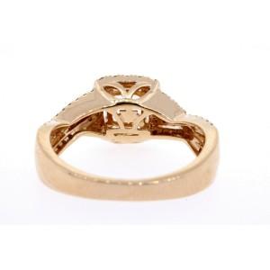 Levian Morganite Diamond Ring Cushion Halo Band 14k Strawberry Rose Gold 7 $1349