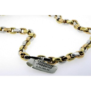 "Roberto Coin 18k Necklace Chain Yellow Gold 18"" Two Tone Link $12,200"