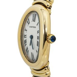 Cartier Baignoire 1954 18k Gold Medium Quartz Womens Watch 23MM