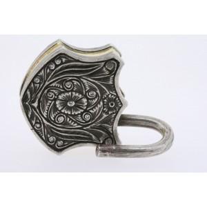 Sevan Bicakci Pendant PadLock Diamonds Ruby 24k Gold Sterling Silver 2011